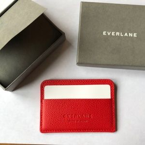 Red 100% Leather Cardcase by Everlane